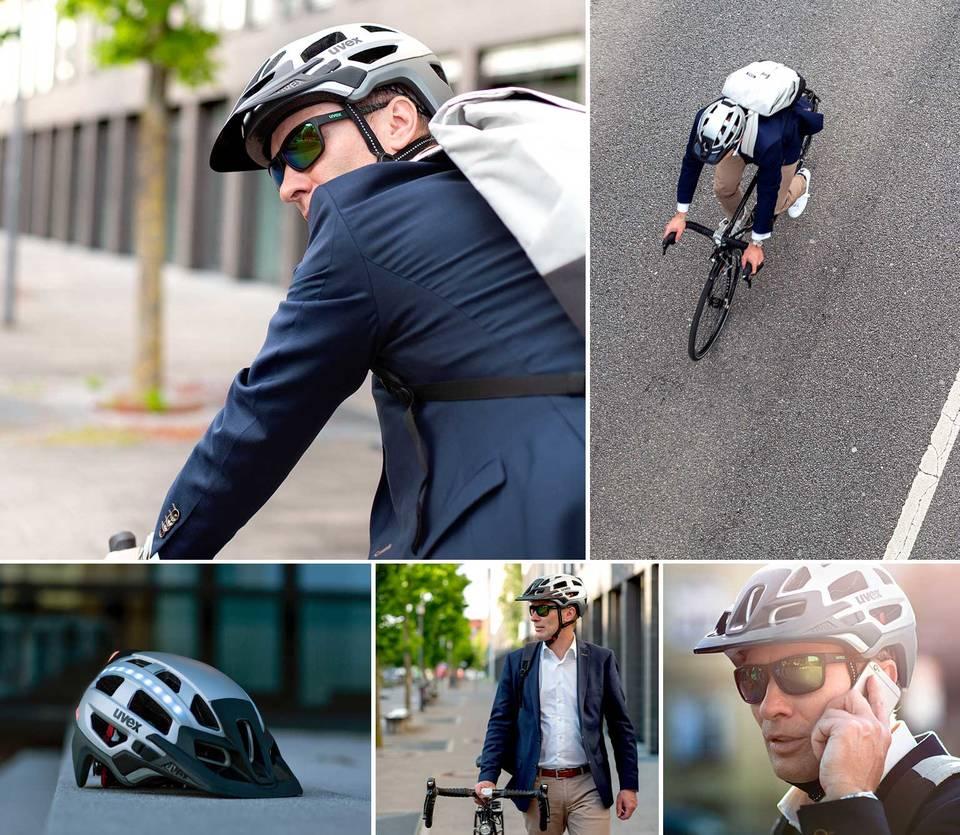 okulary rowerowe uvex dla rowerzysty miejskiego