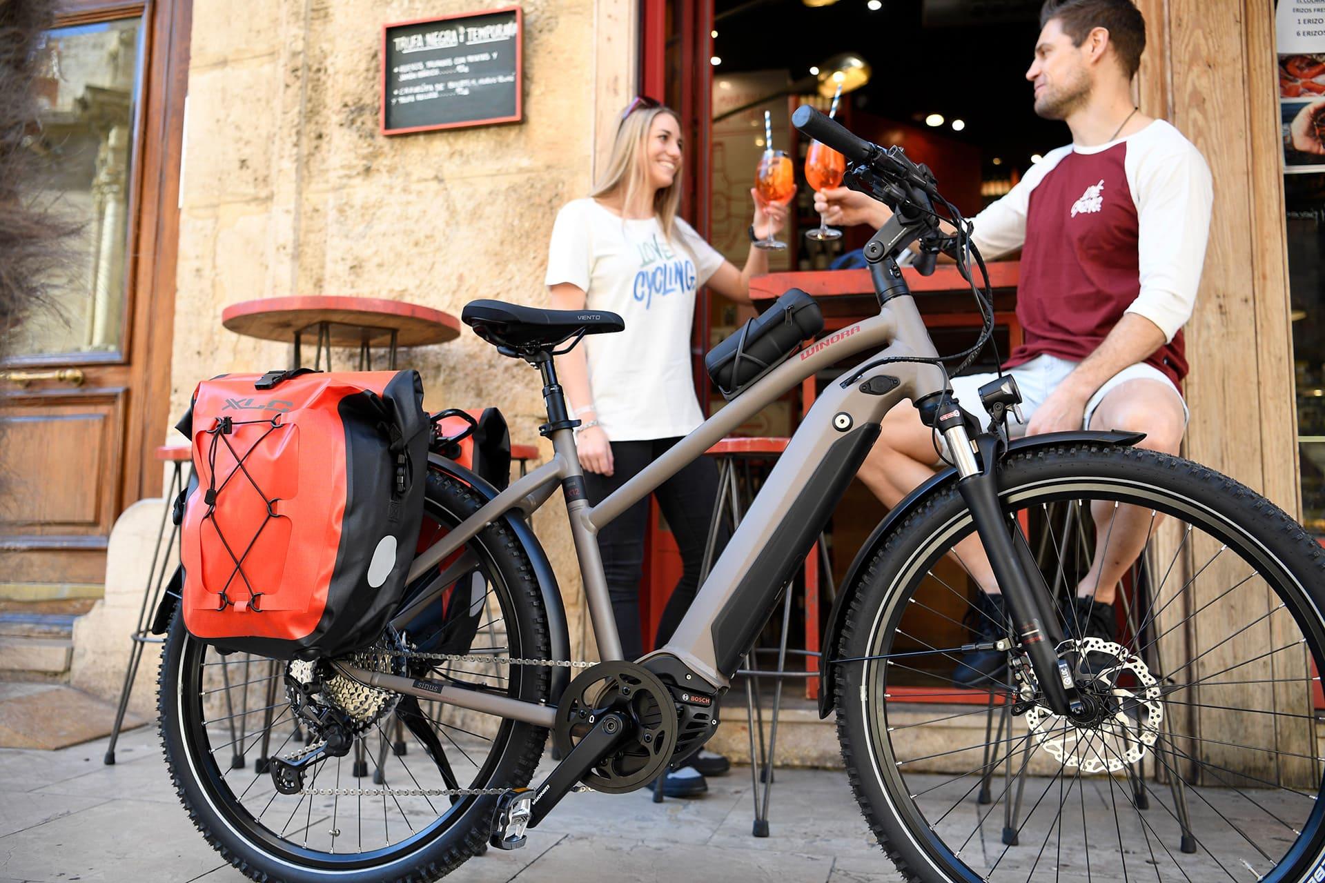 sakwy rowerowe XLC BA W38 czerwone
