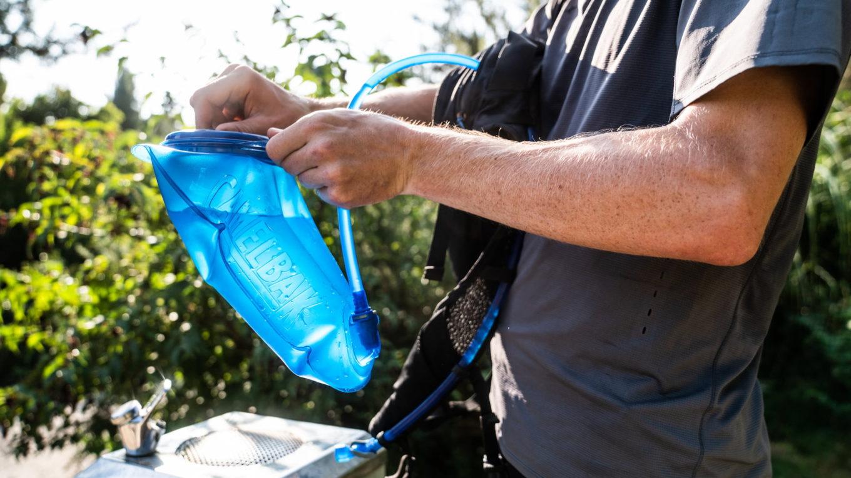 Plecak rowerowy z bukłakiem